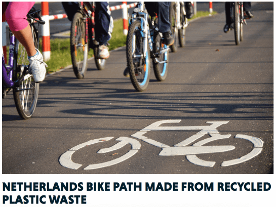 , This Bike Path In The Netherlands Is Made From Plastic, The Circular Economy