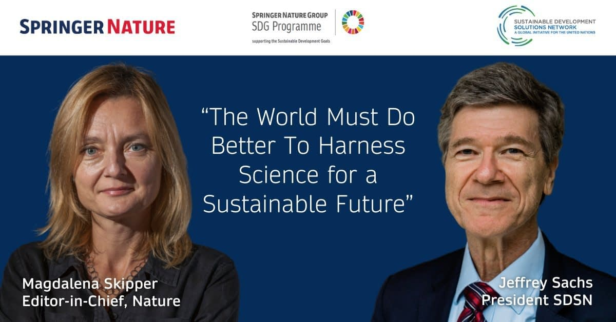 """, """"The World Must Do Better To Harness Science for a Sustainable Future""""   Advancing Discovery   Springer Nature, The Circular Economy"""