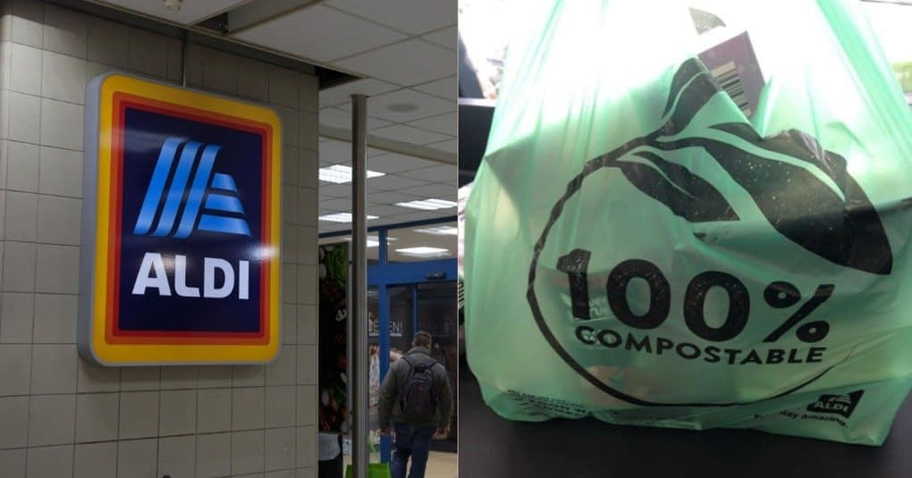 , Aldi Set To Replace 12.5 Million Single Use Plastic Bags With Compostable Bags, TheCircularEconomy.com