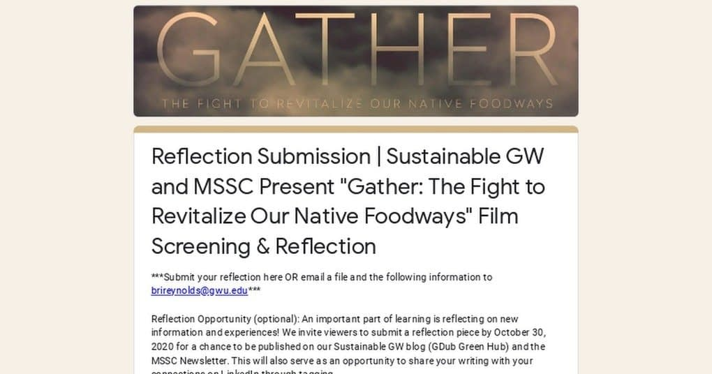 """, Reflection Submission 