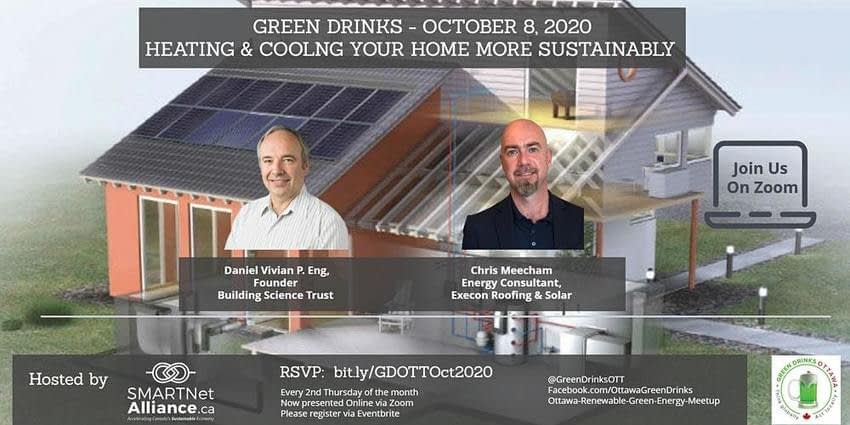 , Green Drinks October – How to Heat and Cool Your Home More Sustainably Registration, Thu, 8 Oct 2020 at 6:15 PM, TheCircularEconomy.com