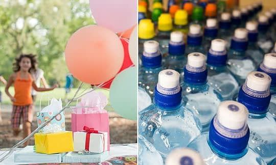 , Bottled water and BALLOONS banned from kids' birthday parties 'to cut down on single-use plastics'   Daily, The Circular Economy