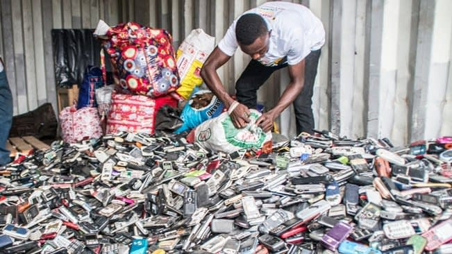 , Green economy: 50 million tons (100 billion pounds!) of potentially job creating e-waste discarded annually, The Circular Economy