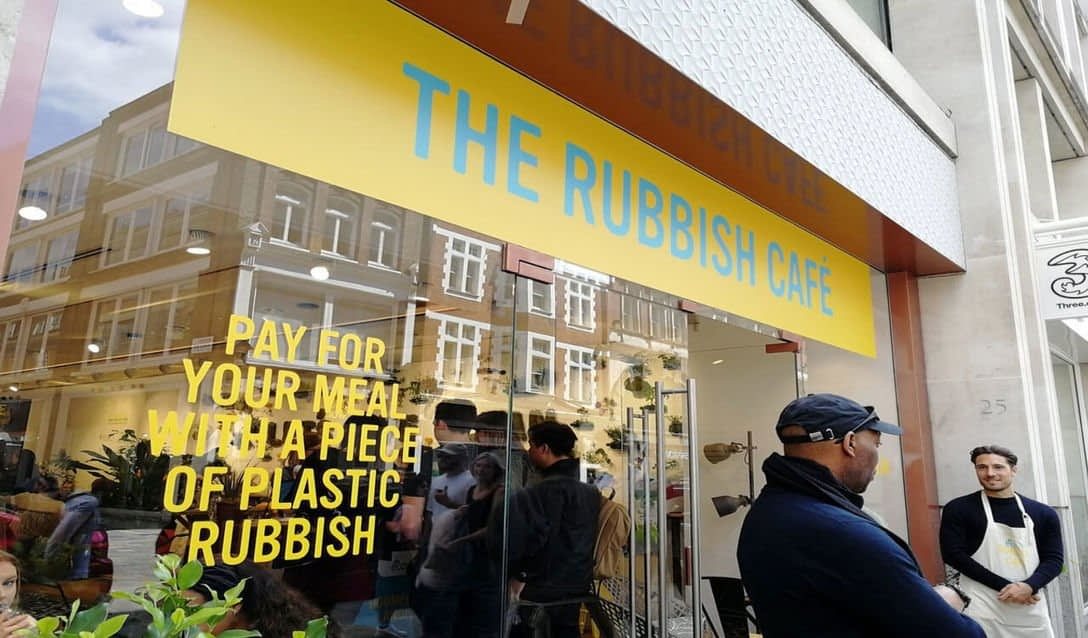 , Pop-up café uses plastic waste as payment | Springwise, The Circular Economy